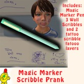Magic Marker Scribble Prank