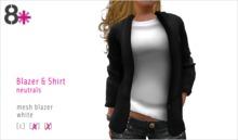 8+ // Blazer & Shirt - White