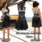 Silk Maternity-dress Mesh  <Inna> Silk Black
