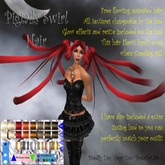 Fantasy Hair, Animated Free flowing Pigtails Swirl Hair