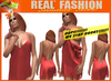 """""""REAL FASHION"""" - """"Oops"""" Camisole Red - Mesh rigged"""