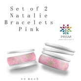 PRISM Natalie Bangle Bracelets in Pink