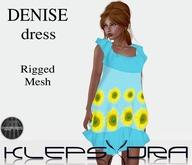Denise Ruffle Dress - Sunflower