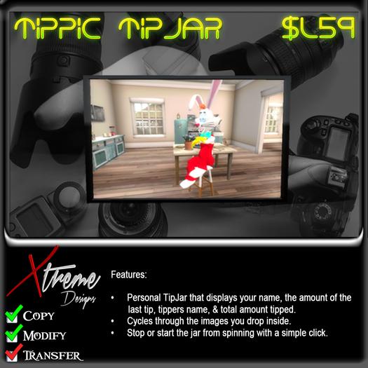 Xtreme 3D TipPic TipJar - Tip Picture Tip Jar -