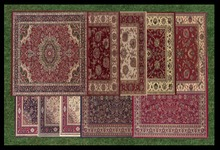 ☆ Bliss Designs ~ Rug-o-matic ~ Click/Touch To Change Oriental Pattern ~ Over 12 Beautiful Patterns To Choose From