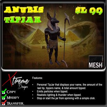 Anubis TipJar - Egyptian - Egypt