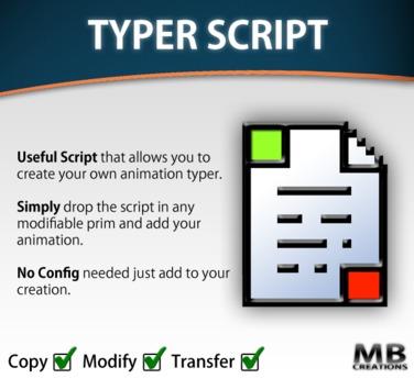 Typing Animation Script