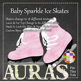 *Aura's* Baby Sparkle Ice Skates (Texture & Color Change)  for Toddleedoo & Yabu Babies