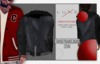 -LUXE- Varsity Hooded Jacket ; Denim