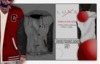 -LUXE- Varsity Hooded Jacket ; Grey - NY