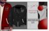 -LUXE- Varsity Hooded Jacket ; Black - NY