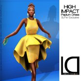 Loovus Dzevavor: High Impact Mini Dress Zest