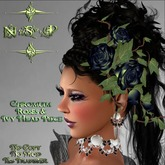 NSP Chromuim Roses and Ivy Head Piece (boxed)