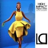 Loovus Dzevavor: High Impact Mini Dress Coral