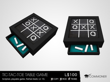 [Commoner] Tic-Tac-Toe Table Game