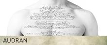 AUDRAN Unisex Collarbone Chest Tattoo 'Desiderata'