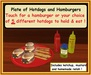 Hot off the Grill  - Plate of  Hotdogs & Hamburgers / Low Prim