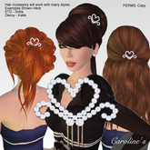 (Caroline's Jewelry) Diamond Heart Hair Comb