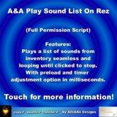 A&A Play Sound List on rez, boxed