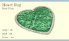 Heart Rug Boxed (Emerald)