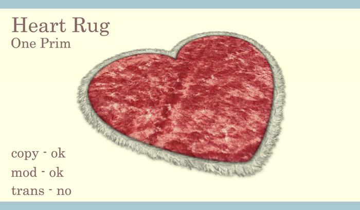 Heart Rug (Pink)