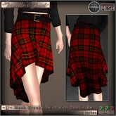 ~JJ~ Mesh Breeze Skirt (red tartan)