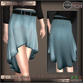 ~JJ~ Mesh Breeze Skirt (silver lake)