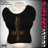 [DC]Cross Tshirt-Black/Tiger