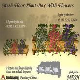 Mesh floor plant box with flowers 1 prim full perm