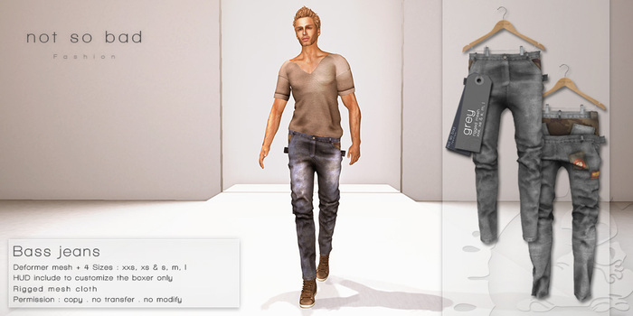 not so bad . BASS jeans . grey