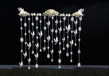 Wedding Decorations Doves and Diamonds bead curtain - backdrop