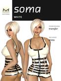 Soma - White Latex Mini-Dress - Hugo's Design