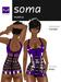 Soma - Purple Latex Mini-Dress - Hugo's Design