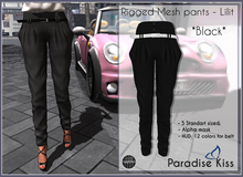 {Paradise Kiss} Lilit pants-Black (Rigged Mesh)