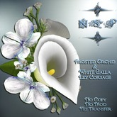 NSP Frosted Orchid & White Calla Lily Corsage (boxed)