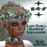 NSP Lady Flora Crown in Aquamarine/Opal (boxed)
