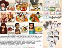 """""""Everydays Joy"""" Kids Food Placemat -Inc Sauce Tatoos & drinks"""