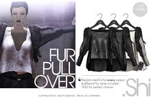 .Shi : Fur Pullover {BlackSet}