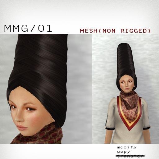 *booN MMG701 hair black/chocolate/purple