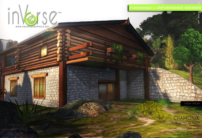 inVerse® MESH - CHAMONIX - full furnished mesh cottage