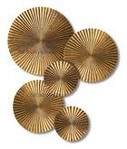 Gold Crimped Discs Wall Decor