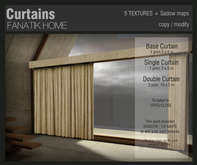 :FANATIK HOME: Curtains - open/close scripted mesh curtains pack - oclusion maps included - 6 pre textured examples