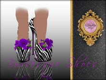 Boudoir -Burlesque Shoes Purple Zebra