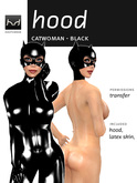 Viewer 2-Only Cat-Hood - Black Latex - Hugo's Design