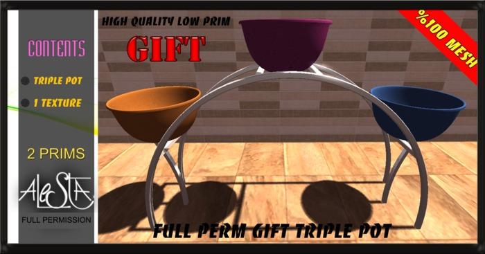 ALESTA << GIFT Mesh Triple Pot Full Perm
