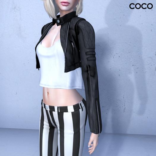 *COCO*_CroppedBikerJacket_Black