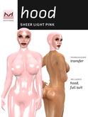 Sheer Latex Hood - Baby Pink - Hugo's Design