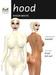 Sheer Latex Hood - White - Hugo's Design