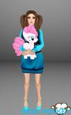 Mesh Monkey : My Little Horsie Pinkie Pie plushie doll (mesh)