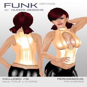 Funk - Orange Latex Top - Hugo's Design